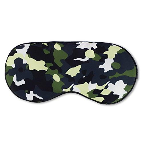 Kimkoo Silk Light with Straps - Eye For Sleeping With Eye Patch,Camouflage