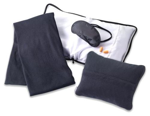 Lewis N. Clark Travel Comfort Set, Black, One Size