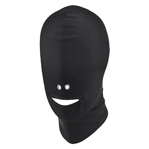 MSemis Black Breathable Unisex Blindfold Face Cover Spandex
