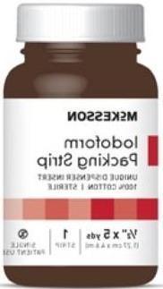 McKesson 61-59245 Iodoform Packing Strip, 5% W/Sterile, Late