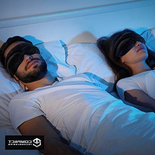 Nighttime Mask Padded Foam, Fit Pockets and Soft Sleep-Strap for Theraputic 3D Men Women Compact