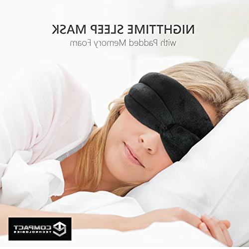 Nighttime Padded Memory Foam, Fit Eye and Theraputic Luxury 3D for Men and Women Compact Technologies