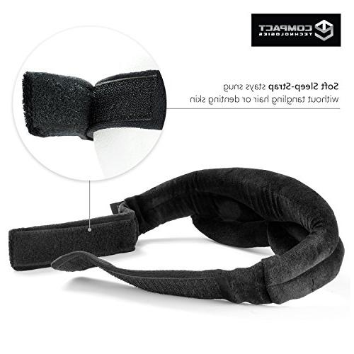 Nighttime Sleep Mask Padded Fit Contour and Sleep-Strap Theraputic Sleeping - 3D Men Compact