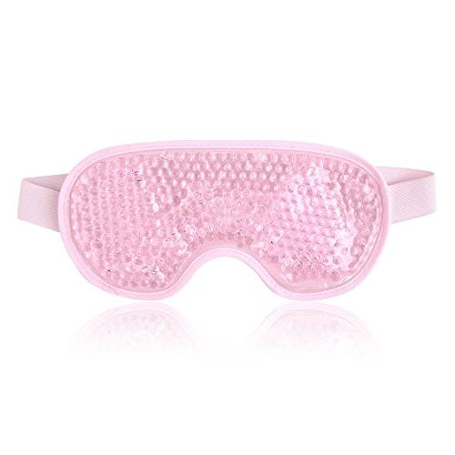 Reusable Eye Mask with Gel Beads for Hot Cold Therapy, Flexi