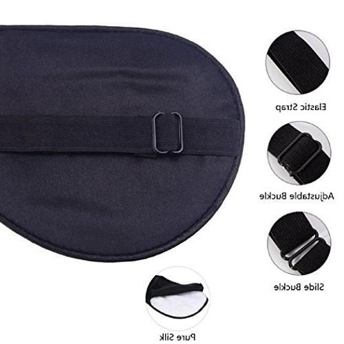 Silk Sleep Mask Adjustable for Kids,Comfortable Eye Travel Nap Shift