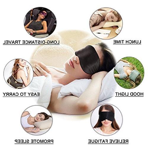 Silk Sleep Mask mask Sleeping-Soft Mask Adjustable for Men Kids,Comfortable Eye Travel Shift Work
