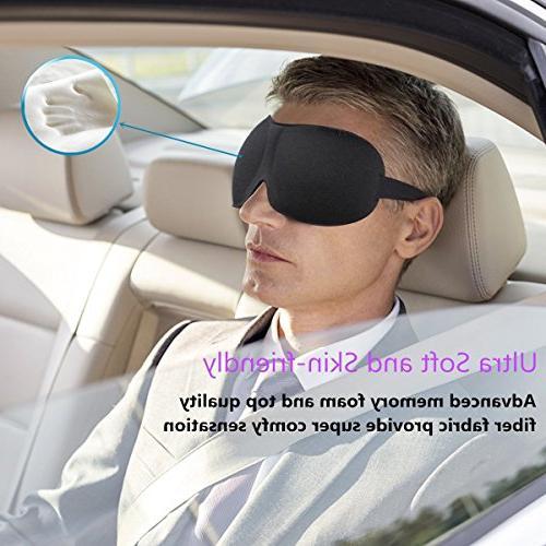 Sleep Ultra Comfortable, Strap 3D Contoured Eye Sleeping Masks for Travel, Spa, Meditation, Eyeshade Men