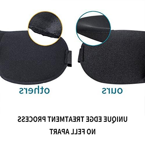 Sleep Eye Mask, Pack Adjustable Velcro Strap Contoured Mask Sleeping, Airplane,