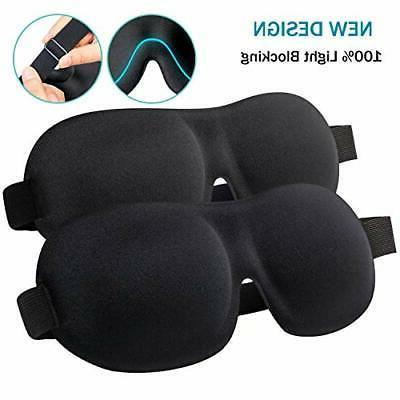 Sleep Mask, 2 Pack Ultra Comfortable, Fully Adjustable Strap