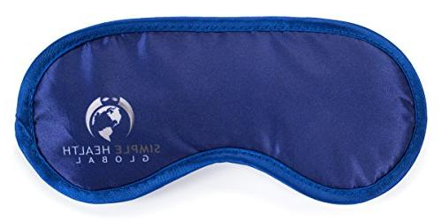 Sleeping Mask Simple Sleep & Insomnia Blindfold Men, Women, Girls, Puffy Eyes Dark Circles, Free & Carry Blue
