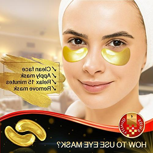 Under Eye Mask Eye Mask Acid Gold Patches for Dark Circles Puffiness