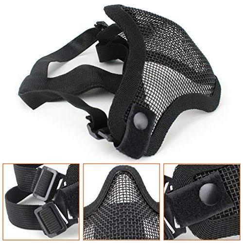 Aoutacc Airsoft Mask and Goggles Full Mesh Mask and Goggles