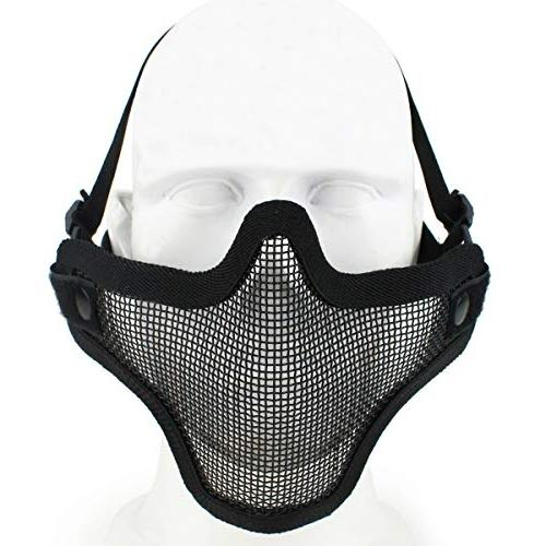 Aoutacc Goggles Full Steel Mesh and Goggles for CS/Hunting/Paintball/Shooting