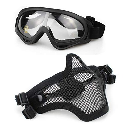 airsoft mask goggles set