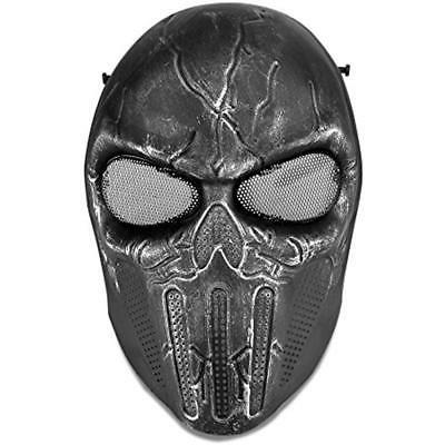Airsoft Paintball Face Skull Mesh Eye Field Safety