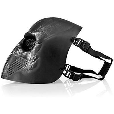 "Airsoft Mask Full Face Skeleton Mesh BB Safety """