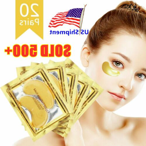 40pc Gold Crystal Collagen Eye Mask Patch Wrinkle Anti Aging