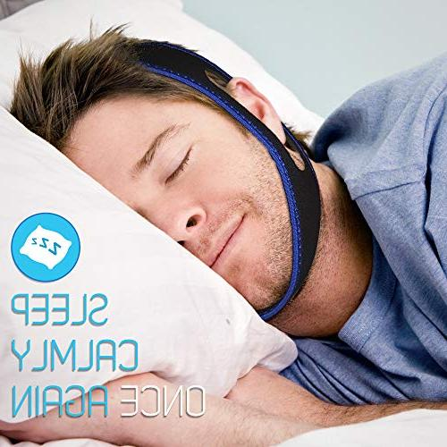 Anti Snore and Women with 3D Eye and Ear Plugs, Adjustable, and Breather, Effective to Reduce Snoring