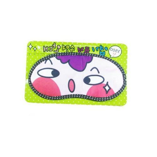 Plush Eyeshade Travel Sleep Mask -Color Random