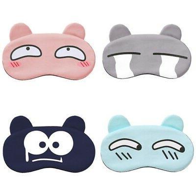 Kids Cartoon Eye Mask Soft Travel Night Sleeping Blindfold S