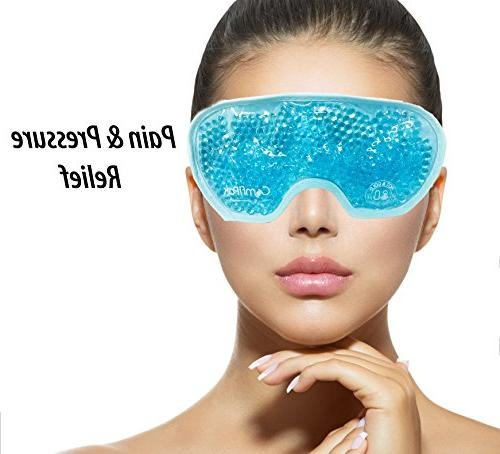Beaded Eye Hot and Cold   Pack Mask Migraine Stress, Pain