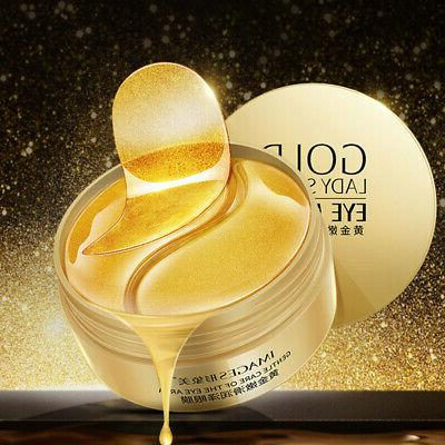 Gold Hydrogel Eye Patches Collagen Eye Mask for Puffy Dry Ey