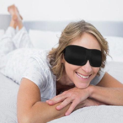 Bucky & Comfortable Contoured, Pressure Eye Mask Travel Sleep, With Eyelash Black