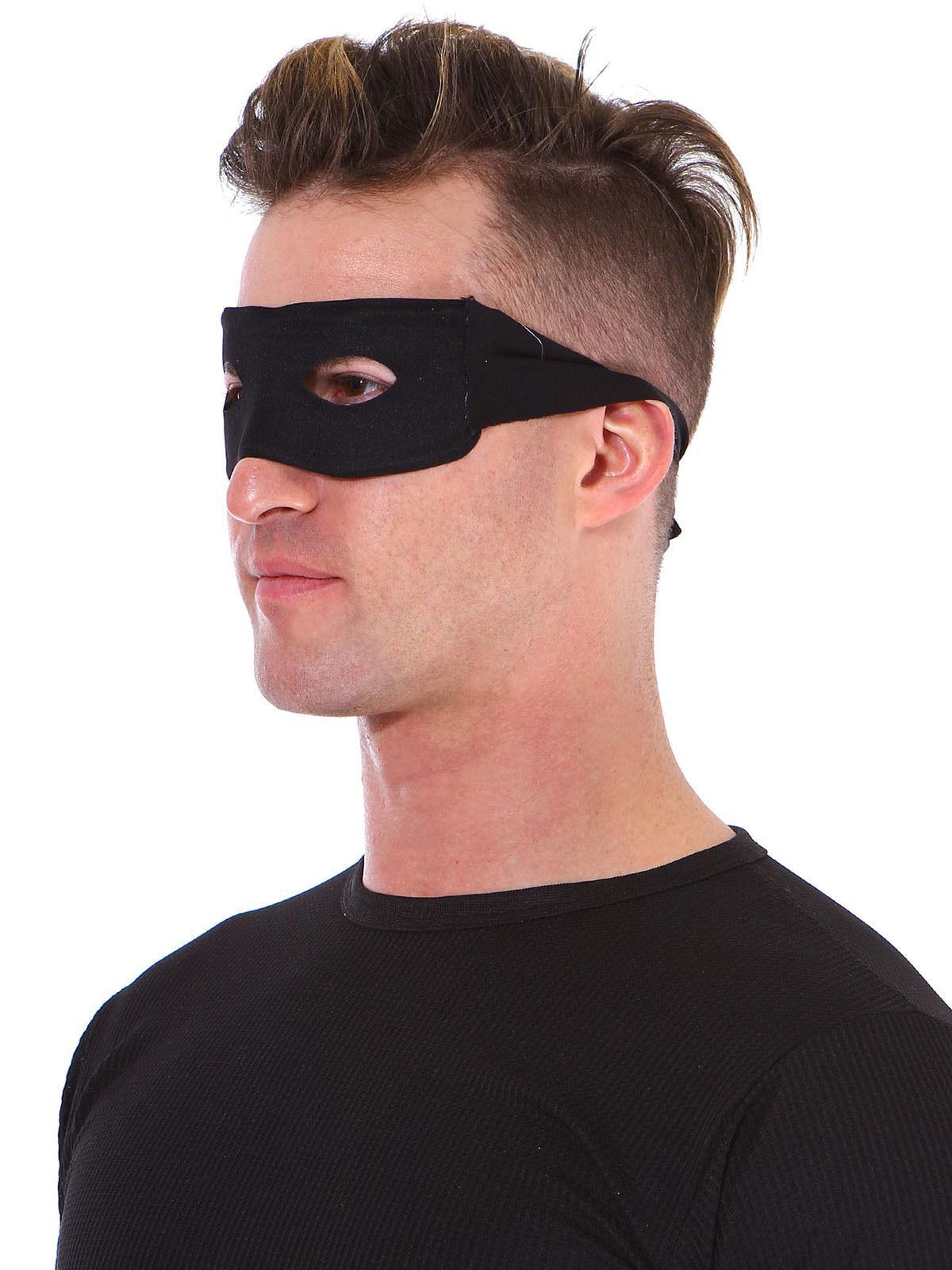 Black Eye Mask Adult Mens Eye Mask Bandit Zorro Halloween Co