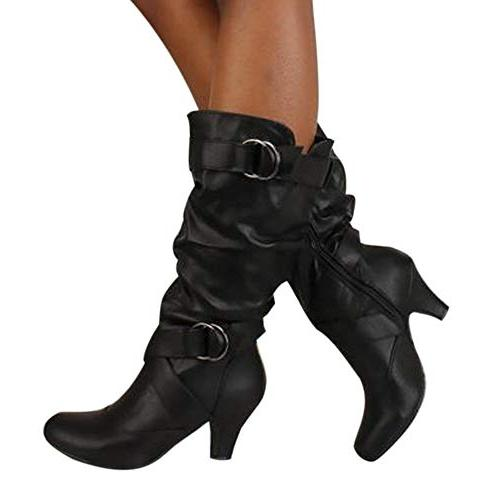 SMALLE ◕‿◕ Women Over Boot High Long Thigh Boots Black