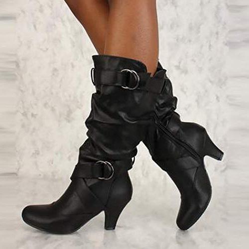 Boot High Heel Long Thigh Boots Black
