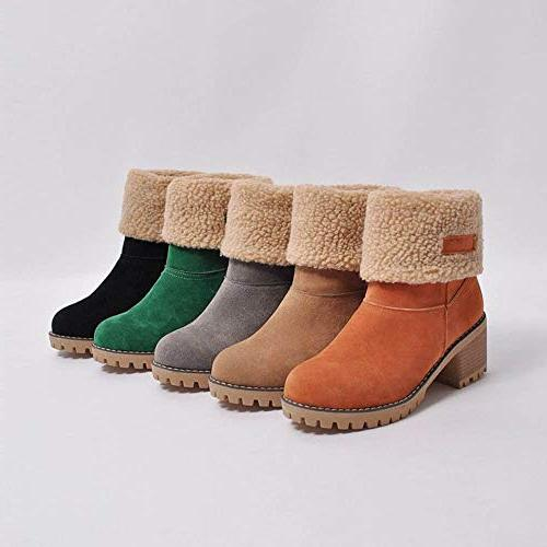 SMALLE Winter Shoes Flock Boots Snow Short