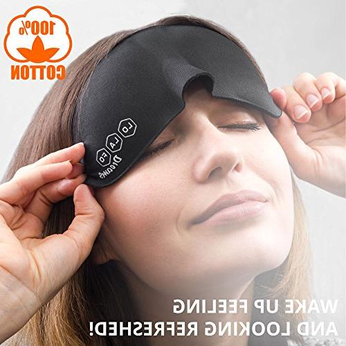 Cotton for Women Night – Mask and – 3D Mask Sleeping Adjustable for Travel, Work Meditation