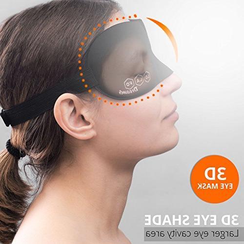Cotton Women and Men Night Mask – Mask Adjustable - Travel, Work Meditation Black