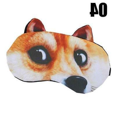 Cute Cat Sleep Mask Eye Mask Eyeshade Shade Natural Sleeping Patch Wom