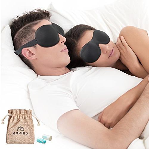 OriHea Eye Cover Sleeping Mask for Men, Blackout Sleep Eye Mask Blindfold,