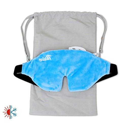 Eye Beads Hot & Cold Compress Cover Innovative Reusable gel both ice or relief and Great for + more