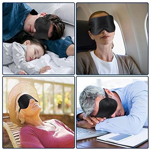PaiTree Natural Silk Sleep Mask Blindfold, Shade Eye Cover Sleeping for Man