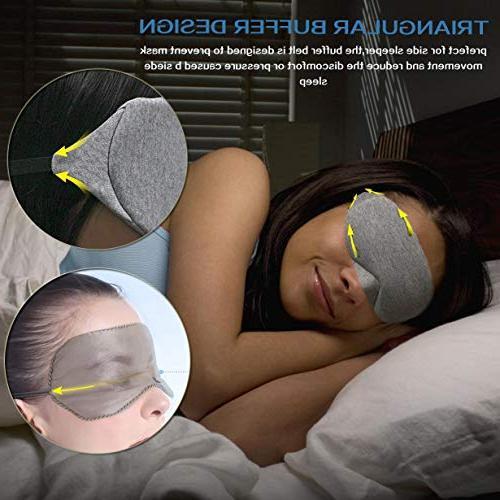 LEEKEN Eye Sleeping,100% Mask Blindfold with