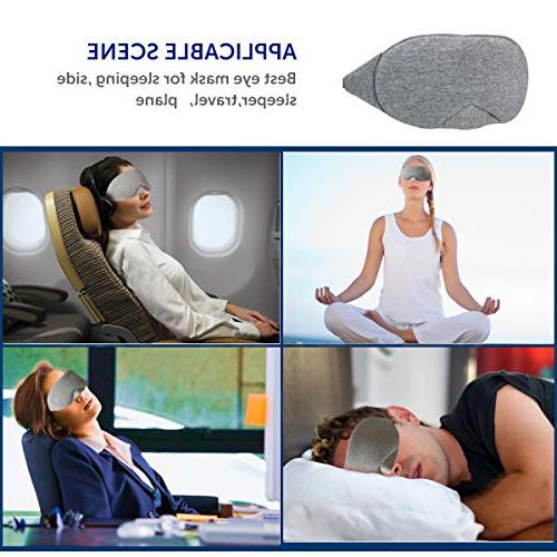 LEEKEN mask for Sleeping,100% Handmade Mask Blindfold Airplane with Travel Pouch