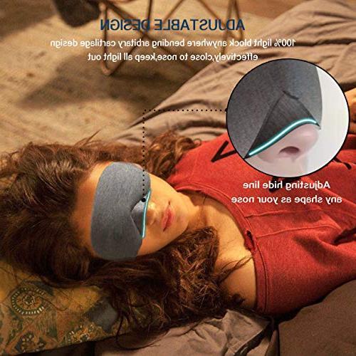 LEEKEN for Sleeping,100% Mask Women, Blinder Blindfold Airplane Pouch