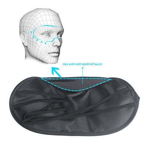 Amariver Mask Shade Cover, 20 Travel Sleep Night Sleeping Pad, Light Cover Black