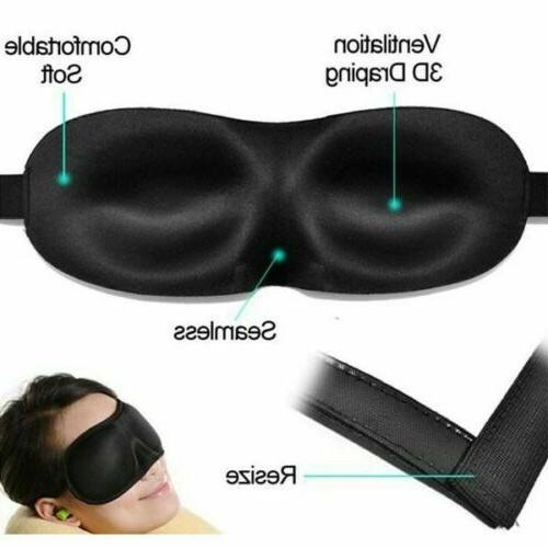 Eye Mask Shade Cover Blindfold Day Black