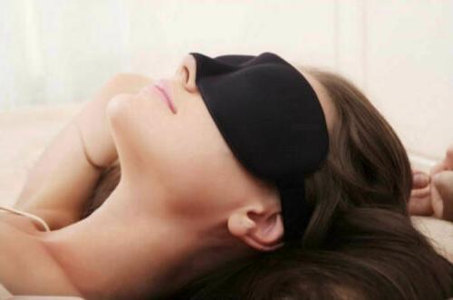 Eye Sleep Shade Blindfold Day Black