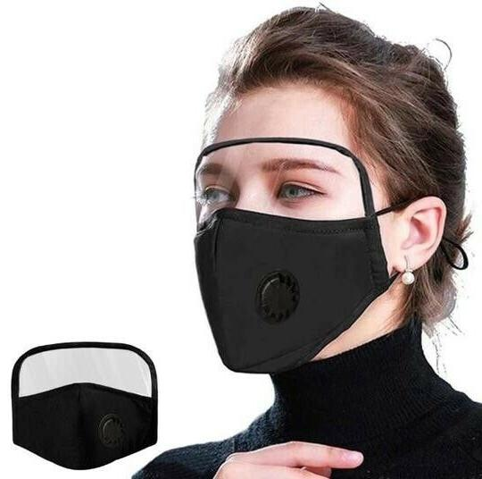 Face Mask Eyes Shield Washable 2 Pc Cotton Strap