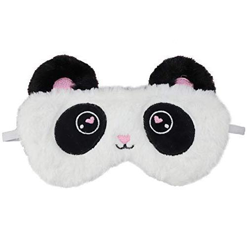 fluffy panda sleep mask