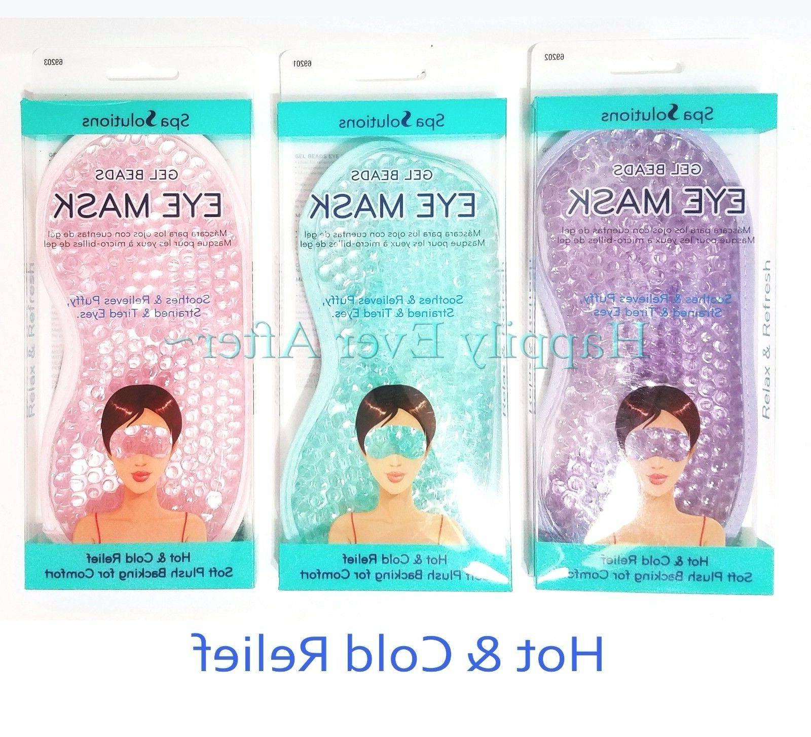Gel Eye Mask - Hot & Cold Relief, Therapeutic Gel filled Bea