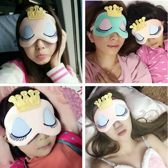 girls women soft travel relax sleeping blindfold