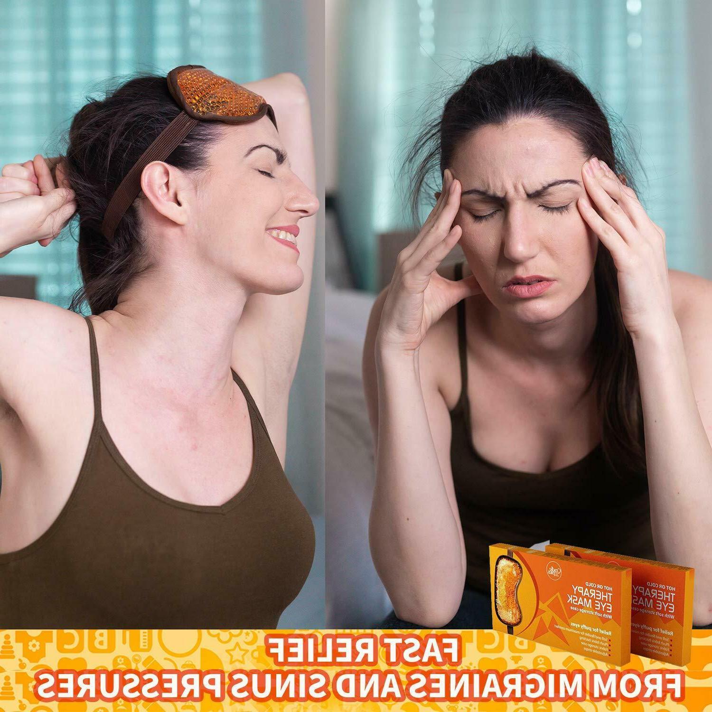 Hot Bead Eye Mask for Puffy Eyes -> Sleep
