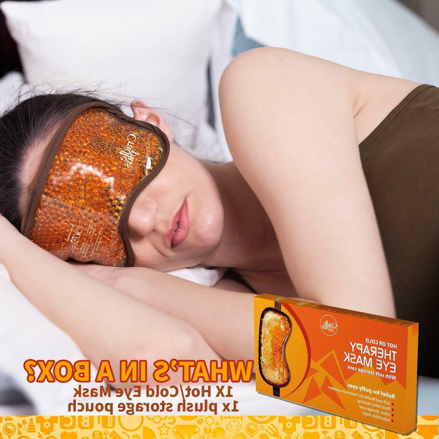 Hot and Bead Therapy for Puffy Eyes Sleep Mask
