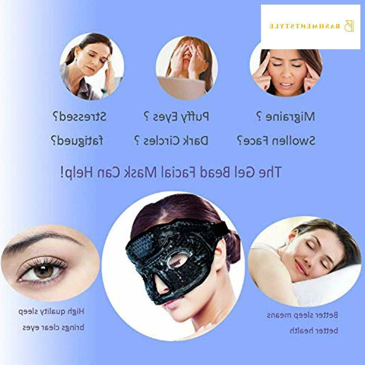 Ice Face/Eye Mask Woman Man, Hot/Cold Gel ice with Soft